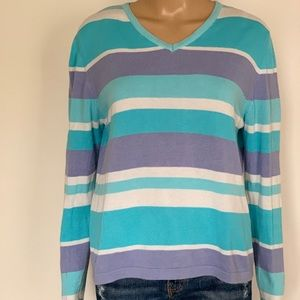 Lilly Pulitzer striped v-neck pullover sweater
